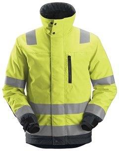 Kurtka robocza odblaskowa ocieplana  - odzież robocza ostrzegawcza
