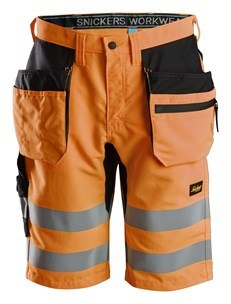 Shorrty robocze odblaskowe na lato - odzież robocza odblaskowa- spodenki do koloan