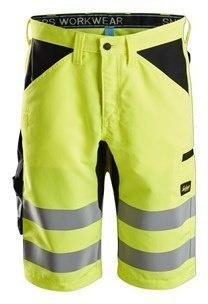 Krótkie spodenki odblaskowe Snickers - odziez odbladkowa na lato dla drogowców budowlańców