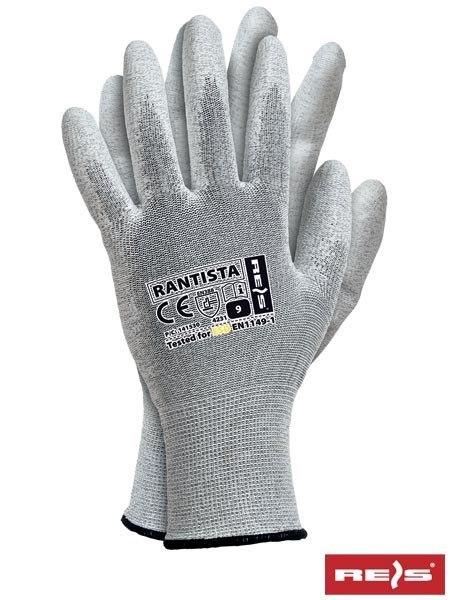 rękawice powlekane poliuretanem  ESD  antyelektrostatyczne