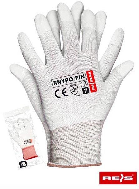 rękawice robocze powlekane poliuretanem na końcach palców